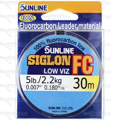 Флюорокарбоновая леска Sunline Siglon FC 30м 0.180