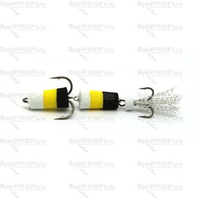 Мандула на судака цвет бело-желто-черная