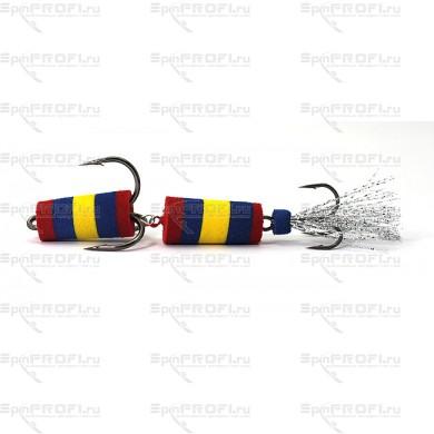 Мандула на судака цвет красно-сине-желтый