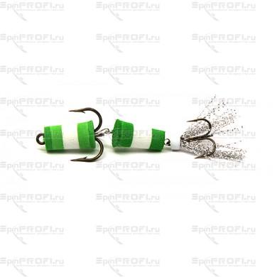 Мандула на судака цвет зелено-бело-зеленый