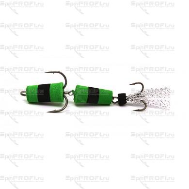 Мандула на судака цвет зелено-черный-зеленый