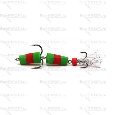 Мандула на судака цвет зелено-красно-зеленый