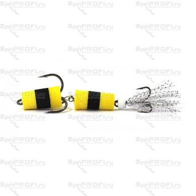 Мандула на судака цвет желто-черно-желтый