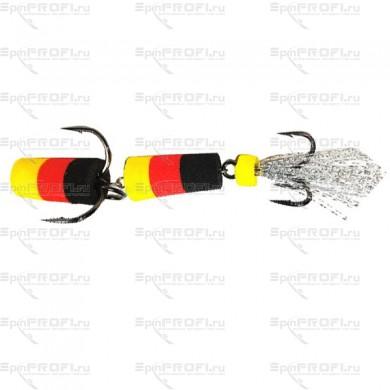 Мандула на судака цвет желто-красно-черный