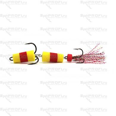 Мандула на судака цвет желто-красно-желтый