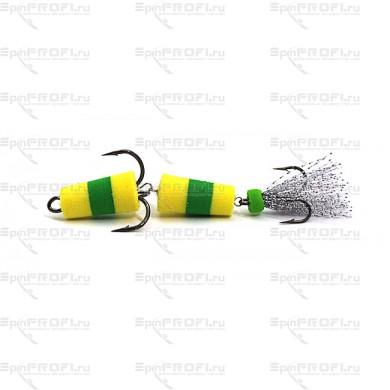 Мандула на судака цвет желто-салатово-желтый