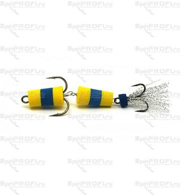 Мандула на судака цвет желто-сине-желтый