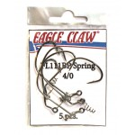 Офсетный крючок со спиралью EAGLE CLAW FL111BP-SP-4/0 (5шт.)