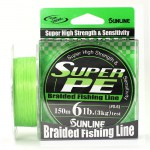 Плетеный шнур Sunline Super PE Light Green 150м 6lb #0.6