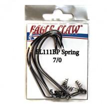 Офсетный крючок со спиралью EAGLE CLAW FL111BP-SP-7/0 (5шт.)