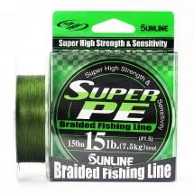 Плетеный шнур Sunline Super PE Dark Green 150м 15lb #1.5