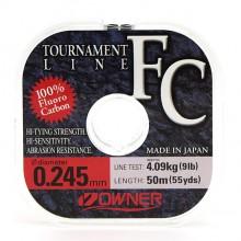 Леска флюрокарбоновая Owner Tournament FC 0,245мм