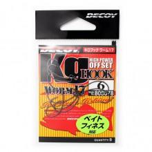Офсетный крючок Decoy Worm 17 №6 (9шт.)
