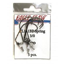 Офсетный крючок со спиралью EAGLE CLAW FL111BP-SP-3/0 (5шт.)