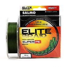 Плетеная леска шнур Salmo Elite BRAID Green 125 0,09мм