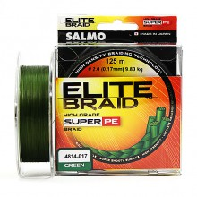 Плетеная леска шнур Salmo Elite BRAID Green 125 0,17мм