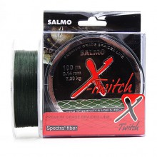 Плетеная леска шнур Salmo X-TWITCH 100 0,14мм