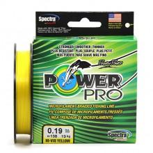 Плетеный шнур Power Pro Hi-Vis Yellow 135м 0.19мм