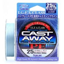 Плетеный шнур Sunline CAST AWAY PE 150м #1.5/0.205мм 25LB/10кг