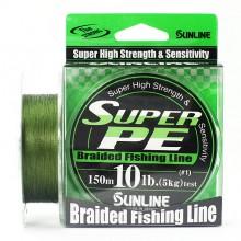 Плетеный шнур Sunline Super PE Dark Green 150м 10lb #1