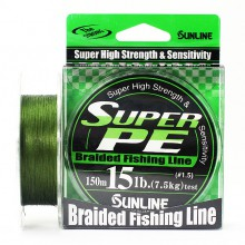Плетеный шнур Sunline Super PE Dark Green 150м 15lb #1.5