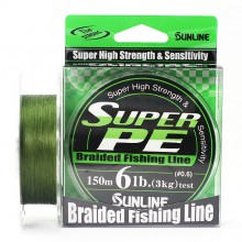 Плетеный шнур Sunline Super PE Dark Green 150м 6lb #0.6