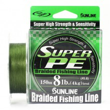 Плетеный шнур Sunline Super PE Dark Green 150м 8lb #0.8
