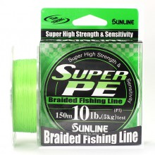 Плетеный шнур Sunline Super PE Light Green 150м 10lb #1