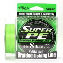 Плетеный шнур Sunline Super PE Light Green 150м 8lb #0.8