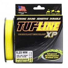 Плетеный шнур Tuf-line XP Yellow 137m 0.15mm, 10kg