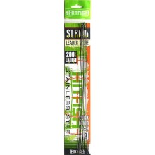 Поводок струна HITFISH String Leader Wire 20см, 0.35 13кг (10 шт)