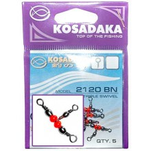 Вертлюг Kosadaka трехсторонний Т-образный (2120BN) 12x14 (5шт)