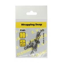 Застежка для безузлового соединения S.V-FISHING Wrapping Snap №L (8шт.)